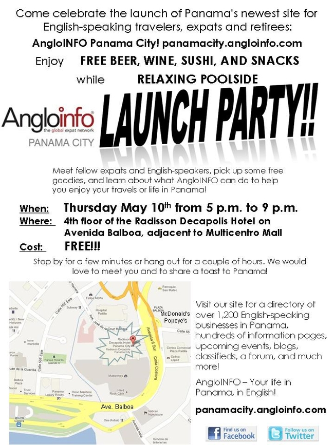 AngloINFO Panama City Launch Party!