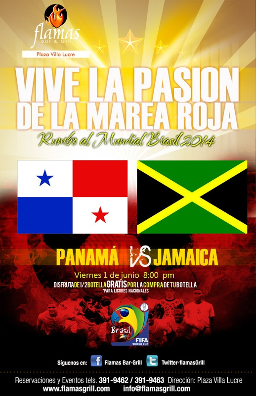 Panamá vs Jamaica en Flamas Bar & Grill