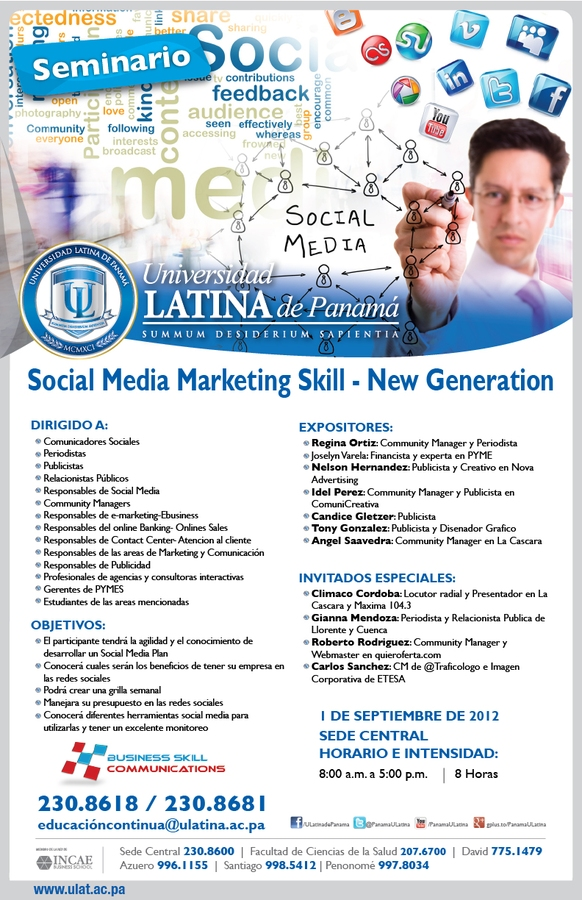 Seminario de Social Media Marketing Skills