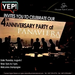 YEP! 4th Year Anniversary @ Panaviera Pool Bar – THURS.6.AUG