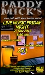 Live Music Friday Night at Paddy Mick's Irish pub/Ciudad del Saber, Clayton (Música en Vivo con vista al canal)